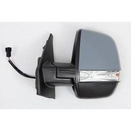 Retroviseur FIAT DOBLO CARGO 01/2010- - Electrique - Droit- Degivrant - Glace Bombee - Coiffe Noir - Clignotant